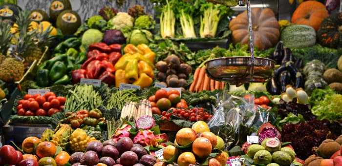 Fruits and vegetables are the first step to start eating healthy.